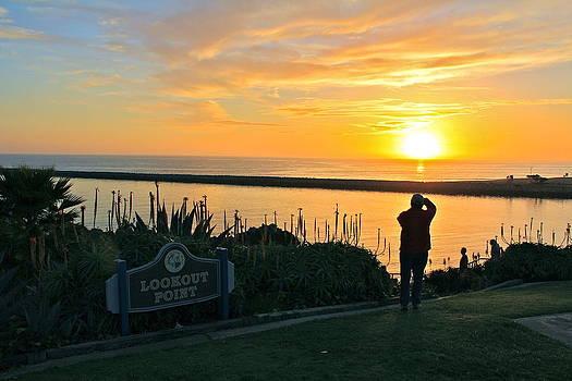 Sunset over Corona del Mar by Harald Vaagan