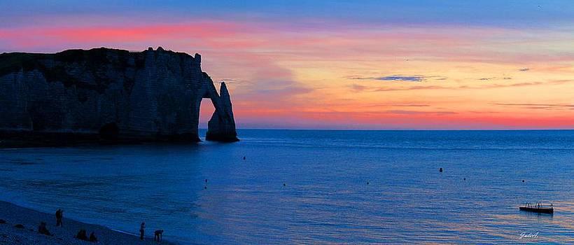 Julia Fine Art And Photography - Sunset over Etretat
