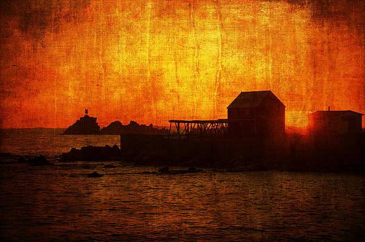 Edser Thomas - Sunset Over Fish Flake