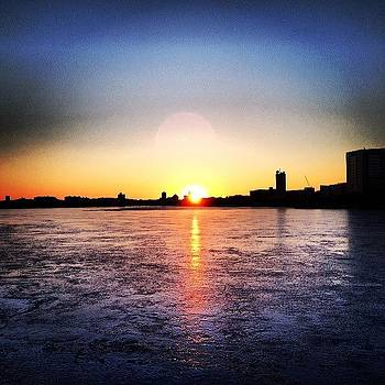 Sunset Over Frozen Charles by Khamid B