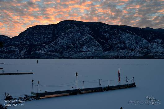 Guy Hoffman - Sunset Over Frozen Skaha Lake 02-07-2014