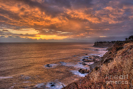 Sunset Over Golden Cove by Nick Carlson