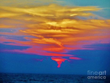 Sunset Over Lake Erie by Marie Bulger