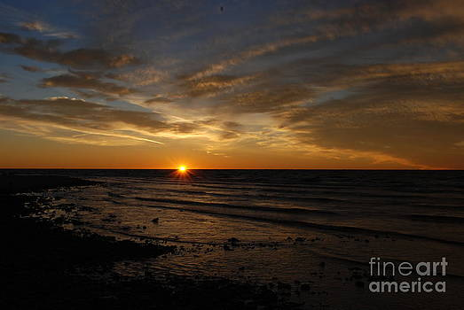 Sunset Over Lake Michigan by Christy Phillips