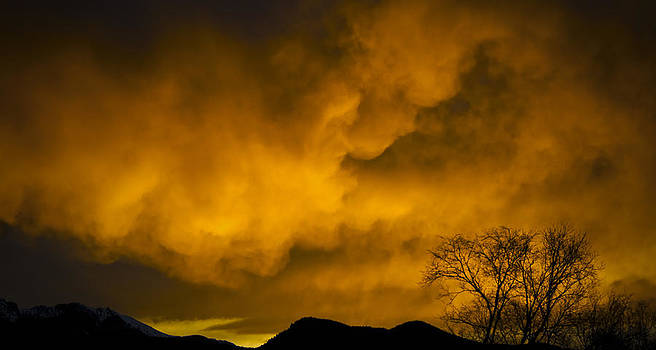 Sunset over Manitou Springs Colorado by Greg Reed