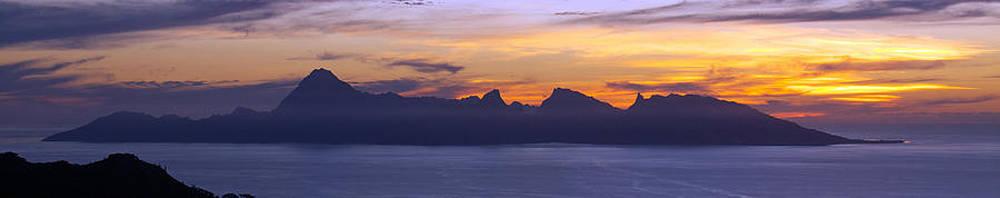 sunset over Mo'orea by David Otter