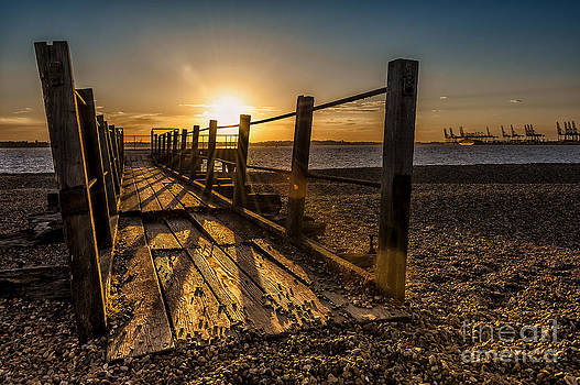 Svetlana Sewell - Sunset over old pier