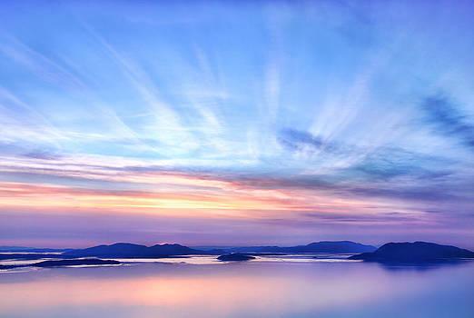Sunset over Padilla Bay by David Williams