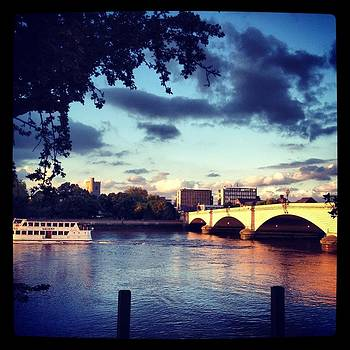 Sunset over Putney Bridge by Maeve O Connell