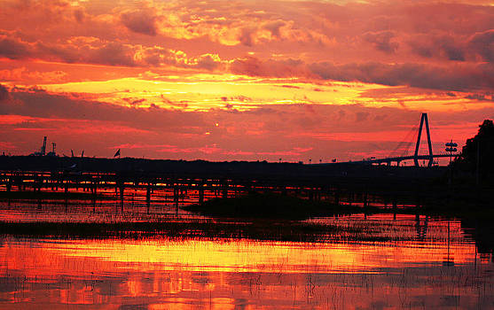Sunset Over Ravenel  by Justyn  Lamb