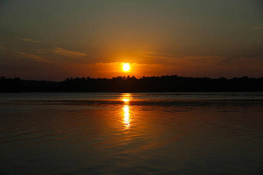 Sunset Over Rice Lake by James Hammen
