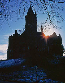 Sunset over Syracuse University Building by Thomas D McManus