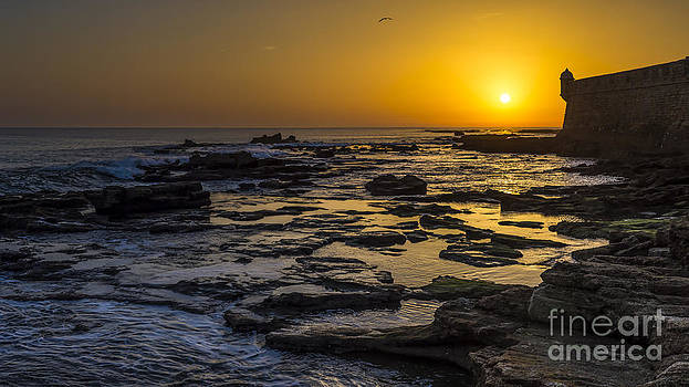 Sunset Over the Atlantic Cadiz Spain by Pablo Avanzini