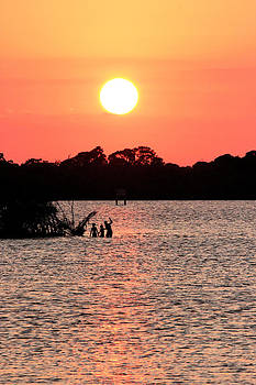 Sunset over the Banana River by Suzie Banks