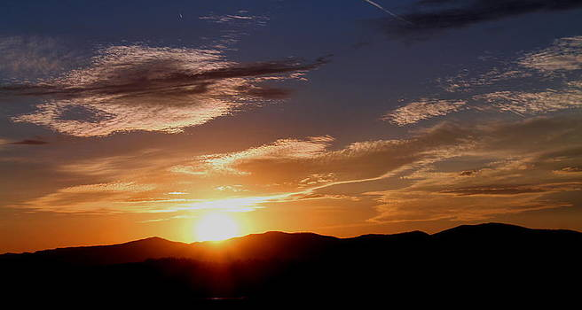 Sunset over the Blue Ridge by Candice Trimble