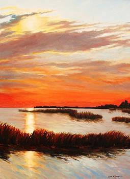 Sunset Over the Marsh by Sarah Grangier