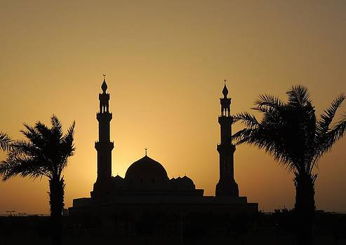 Sunset over the Mosque by Heather Gordon