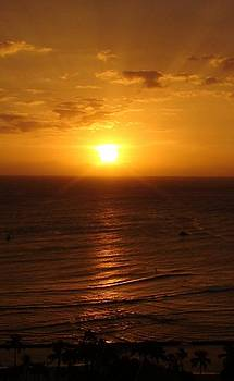 Sunset over the Pacific by Shara  Wright