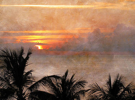 Sunset Over the Palms by Laurie Poetschke