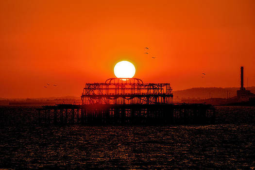 Chris Lord - Sunset Over the Remains Of The West Pier