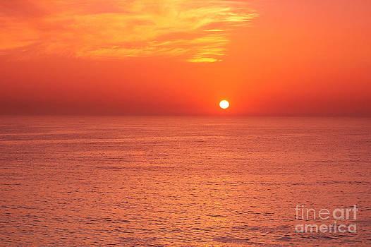 Sunset over the sea by Alexandr  Malyshev