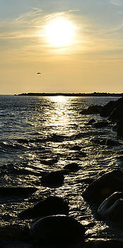 Sunset over the sea by Gynt