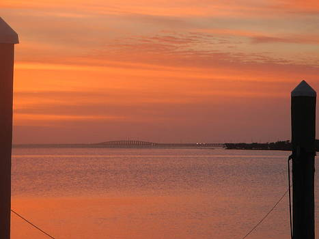 Sunset over the Seven Mile Bridge by Susan Sidorski
