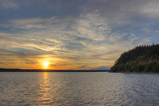 Sunset over the Sound by Richard Jones