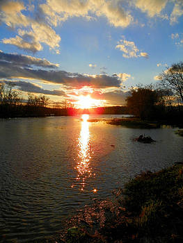 Sunset over the Watauga River by Suzie Banks