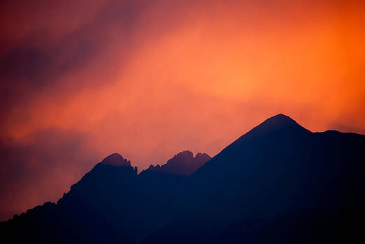 Sunset over Three Colorado 14'ers by Shanna Lewis