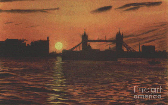 Sunset over Tower Bridge by David Paterson