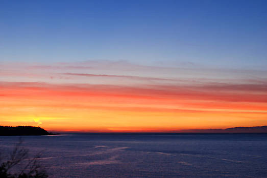 Connie Fox - Sunset Over Washington and Canada