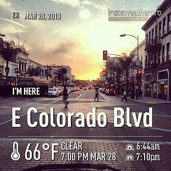 #sunset #pasadena  #colorado #egonoo by Orlando Gonzalez