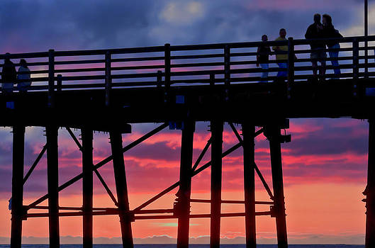 Sunset Pier by Julianne Bradford