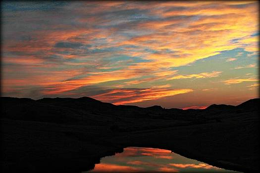 Sunset Ponds by Big Horn  Photography