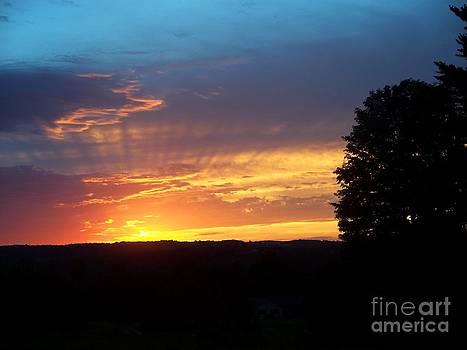 Sunset rays by Steven Valkenberg