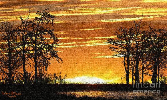 Sunset reflection by Helena Marais