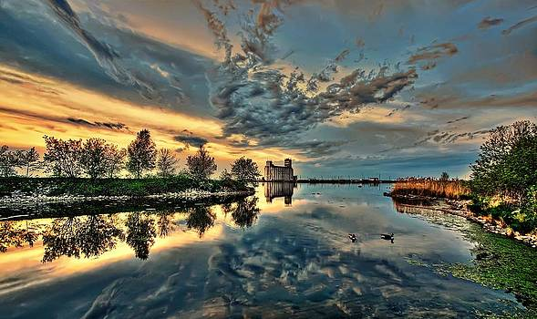 Sunset Reflection by Jeff S PhotoArt