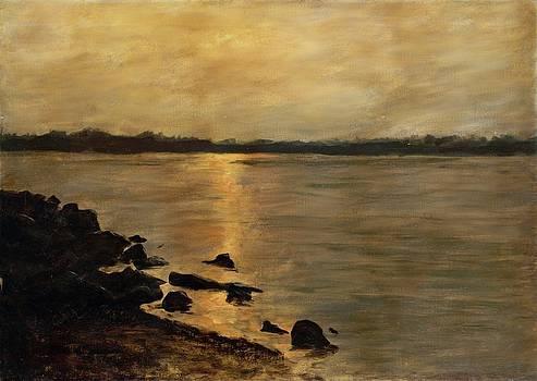 G Linsenmayer - SUNSET RIVER POTOMAC RIVER WASHINGTON DC MARYLAND