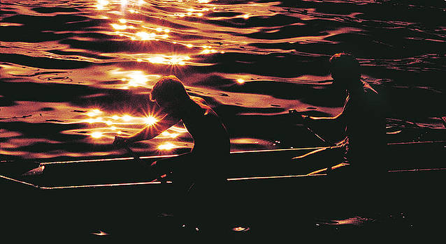 Sunset Rowing by Marino Colmano
