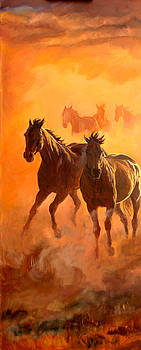Sunset Run l by Jana Goode