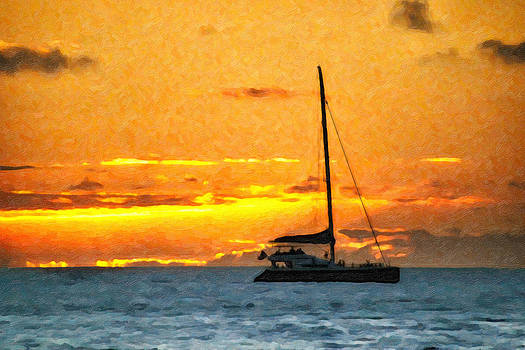 Sunset Sail Off Maui by Kayta Kobayashi