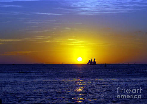 Sunset Sail by Rex E Ater