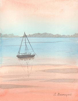 Sunset Sailaboat by Sara Davenport