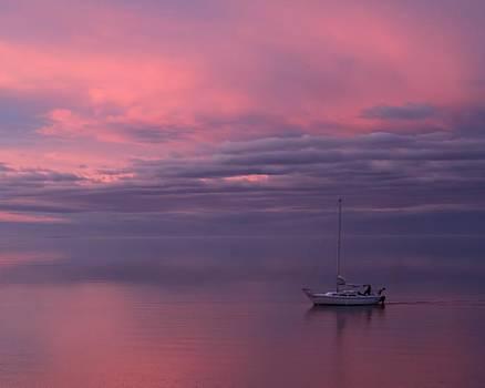 Sunset Sailing by Gene Praag