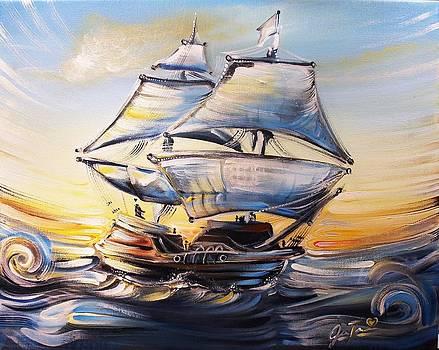 Sunset Sailing by Jennifer Treece