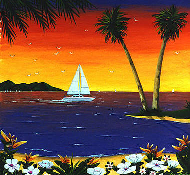 Sunset Sails by Lance Headlee