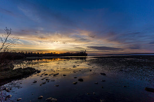Sunset Silhouette at Candle Lake by Gerald Murray Photography