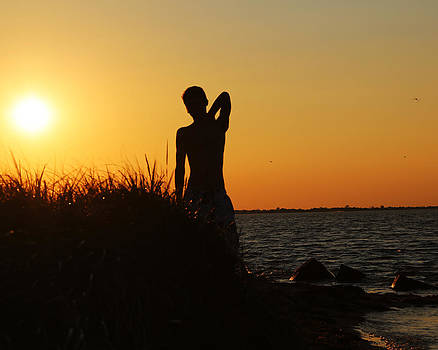 Sunset Silhouette by George  Leininger