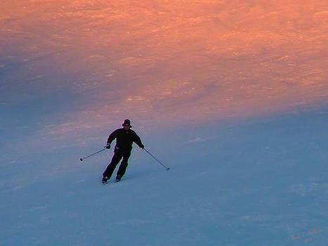 Sunset Skier by Wendy McKennon
